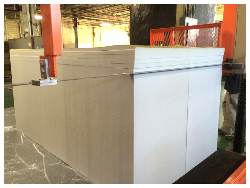 Polyurethane Foam Buns : Polyurethane fabricating process for various cuts